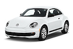 2016 Volkswagen Beetle 1.8T-S-Auto-PZEV 3 Door Hatchback Angular Front stock photos of front three quarter view