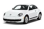 2016 Volkswagen Beetle 1.8T-S-Auto-PZEV 3 Door Hatchback Angular Front stock photos of front three quarter view