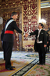 King of Spain Felipe VI receives and gives credential letters to Japan´s ambassador Kazuhiko Koshikawa at Royal Palace `Palacio Real´in Madrid, Spain. October 06, 2014. (ALTERPHOTOS/Victor Blanco)