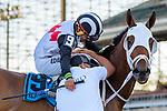April 11, 2021: Icatiro #9, ridden by jockey Nicky Figueroa wins the Clasico Jose de Diego at Hipódromo Camarero in Canóvanas, Puerto Rico.(Carlos Manchego/Eclipse Sportswire/CSM)