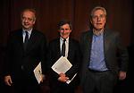 WALTER VELTRONI CON GIANNI ALEMANNO E FRANCESCO RUTELLI<br /> MANIFESTAZIONE PER I 10 ANNI DELL'AUDITORIUR PARCO DELLA MUSICA ROMA 2013