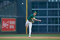 Baylor Bears shortstop Nick Loftin (2) makes a throw to first base against the LSU Tigers in game five of the 2020 Shriners Hospitals for Children College Classic at Minute Maid Park on February 29, 2020 in Houston, Texas. The Bears defeated the Tigers 6-4. (Brian Westerholt/Four Seam Images)