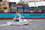 Australian Police Patrol Boat - Maritime police vessel patrolling Fremantle port, Western Australia. Rick Piper Photography.