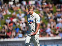 NZ's Kyle Jamieson prepares to bowl during day two of the second International Test Cricket match between the New Zealand Black Caps and West Indies at the Basin Reserve in Wellington, New Zealand on Friday, 11 December 2020. Photo: Dave Lintott / lintottphoto.co.nz