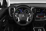 Car pictures of steering wheel view of a 2020 Mitsubishi Outlander-PHEV Business 5 Door SUV Steering Wheel