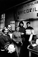 April 23, 1975 File Photo - former employes of Regent Knitting,  form TRICOFIL, after the government failed to help them keep the factory open