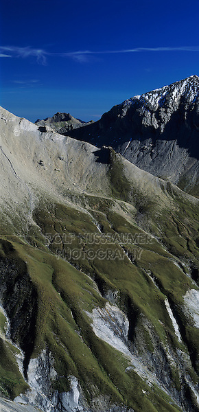 Swiss alps seen from Cassonsgrat peak, Flims, Switzerland