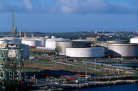 Oil tanks.