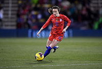 COLUMBUS, OH - NOVEMBER 07: Rose Lavelle #16 of the United States moves with the ball during a game between Sweden and USWNT at MAPFRE Stadium on November 07, 2019 in Columbus, Ohio.