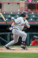 Binghamton Mets outfielder Brandon Nimmo (25) at bat during a game against the Erie Seawolves on July 13, 2014 at Jerry Uht Park in Erie, Pennsylvania.  Binghamton defeated Erie 5-4.  (Mike Janes/Four Seam Images)