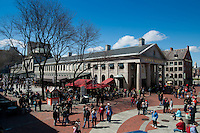Quincy market in spring, Boston, MA