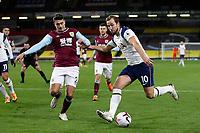 26th October 2020, Turf Moor, Burnley UK; EPL Premier League football, Burnley v Tottenham Hotspur; Tottenham Hotspur forward Harry Kane (10) takes on Burnley defender Matthew Lowton (2)