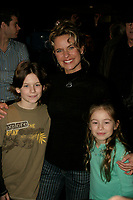 Annie Brocoli and her kids<br /> attend the Cirque du Soleil - DELIRIEM premiere  in Montreal , February 26, 2006<br /> photo : (c) by JP Proulx - Images Distribution<br /> <br /> <br /> PHOTO :  Agence Quebec Presse