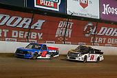 #52: Stewart Friesen, Halmar Friesen Racing, Chevrolet Silverado Halmar International and #54: Kyle Strickler, DGR-Crosley, Toyota Tundra DGR-Crosley Driver Development