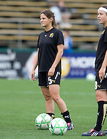 03 May 2009: Tina DiMartino of FC Gold Pride warms up during practice before the game against Sky Blue FC at Buck Shaw Stadium in Santa Clara, California.   FC Gold Pride defeated Sky Blue FC, 1-0.