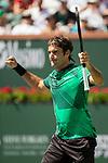 Federer Defeats Sock, 6-1, 7-6(4)