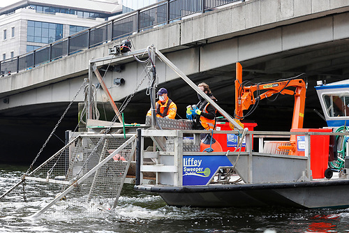 Fitted with a deep cage, the Liffey Sweeper is able to catch a range of material from the water