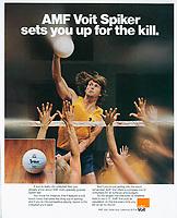 AMF Voit - Spiker Volleyball, 1977, Benton & Bowles Inc. Photograph by John G. Zimmerman.