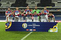 2nd July 2021; Nilton Santos Stadium, Rio de Janeiro, Brazil; Copa America, Brazil versus Chile; Players of Chile pose for their official match photo