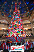 November 8 2017 PARIS FRANCE<br /> Singer Beth Ditto inaugurates the Chritmas<br /> Windows at the Galerie Lafayette on Avenue<br /> Hausmann Paris. # BETH DITTO INAUGURATION DES DECORATIONS DE NOEL AUX GALERIES LAFAYETTE
