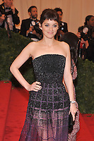 Marion Cotillard at the 'Schiaparelli And Prada: Impossible Conversations' Costume Institute Gala at the Metropolitan Museum of Art on May 7, 2012 in New York City. ©mpi03/MediaPunch Inc.