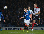 Lewis Macleod heads in the second goal for Rangers