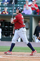 July 1st 2008:  First baseman Andy Tracy of the Lehigh Valley IronPigs, Class-AAA affiliate of the Philadelphia Phillies, during a game at Frontier Field in Rochester, NY.  Photo by:  Mike Janes/Four Seam Images