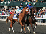 Tara From the Cape and Ramon Dominguez in the Alcibiades stakes at Keeneland racecourse for 2 year old fillies, Grade 1 $400,000.  October 5, 2012.