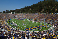 A sold out crowd of Cal fans cheer on their team against Nevada at Memorial Stadium in Berkeley, California on September 1st, 2012.