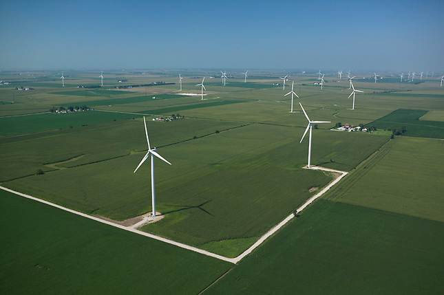 Wind farm on prairie