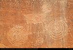 Pronghorn Antelope and Spirals, Eye of the Sun Petroglyph Wall, Monument Valley Navajo Tribal Park, Navajo Nation Reservation, Utah/Arizona Border