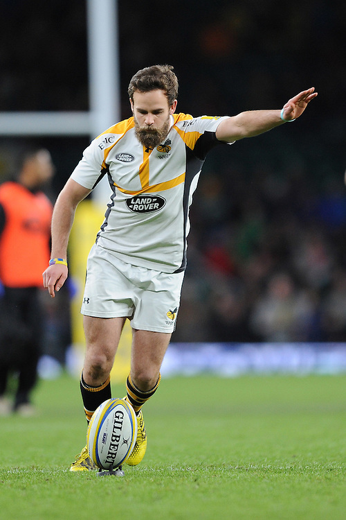 Ruaridh Jackson of Wasps during the Premiership Rugby match between London Irish and Wasps - 28/11/2015 - Twickenham Stadium, London<br /> Mandatory Credit: Rob Munro/Stewart Communications