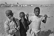 Children born into slavery in Boutlimit, Mauritania  - Child labor as seen around the world between 1979 and 1980 – Photographer Jean Pierre Laffont, touched by the suffering of child workers, chronicled their plight in 12 countries over the course of one year.  Laffont was awarded The World Press Award and Madeline Ross Award among many others for his work.
