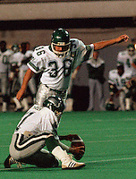 Dave Ridgway Saskatchewan Roughriders 1985. Photo F. Scott Grant