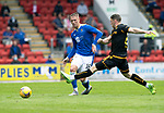St Johnstone v Motherwell…08.08.21  McDiarmid Park<br />Hayden Muller and Connor Shields<br />Picture by Graeme Hart.<br />Copyright Perthshire Picture Agency<br />Tel: 01738 623350  Mobile: 07990 594431