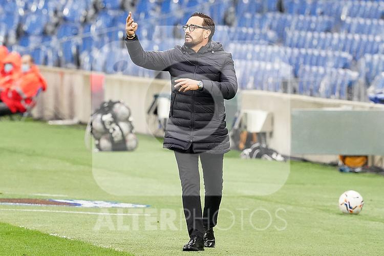 Getafe CF's coach Jose Bordalas during La Liga match. October 3, 2020. (ALTERPHOTOS/Acero)