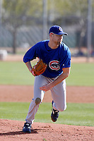 JR Mathes - Chicago Cubs 2009 spring training.Photo by:  Bill Mitchell/Four Seam Images