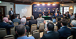 Jon Bramley, VOR Director News &  Media and Anthony Day, HKSF Council Member attend a press conference announce the collaboration with the Hong Kong SAR Government and the Hong Kong Sailing Federation to bring the race to Hong Kong's Victoria Harbour on 13 April 2016 at the HKRYC in Hong Kong, China. Hong Kong, one of the world's most prestigious sailing destinations, will be hosting the Volvo Ocean Race for the first time when the event visits in February 2018 during the 13th edition. Photo by Victor Fraile / Power Sport Images