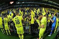 Players sign autographs after the A-League football match between Wellington Phoenix and Western United FC at Sky Stadium in Wellington, New Zealand on Saturday, 22 May 2021. Photo: Dave Lintott / lintottphoto.co.nz