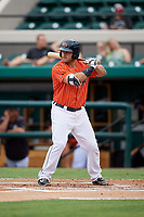Lakeland Flying Tigers designated hitter Wade Hinkle (46) at bat during the second game of a doubleheader against the St. Lucie Mets on June 10, 2017 at Joker Marchant Stadium in Lakeland, Florida.  Lakeland defeated St. Lucie 9-1.  (Mike Janes/Four Seam Images)