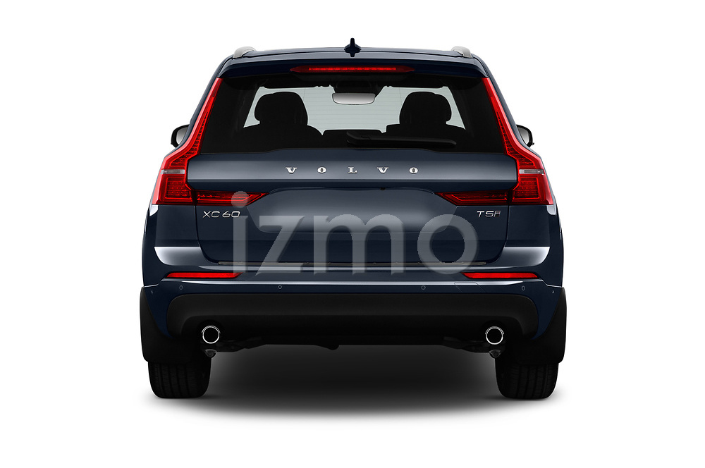 Straight rear view of a 2018 Volvo XC60 T5 Momentum 4WD 5 Door SUV stock images