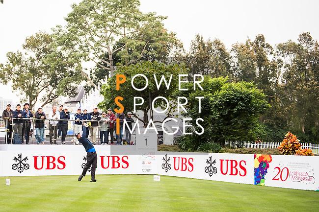 Hideto Tanihara of Japan tees off during the day three of UBS Hong Kong Open 2017 at the Hong Kong Golf Club on 25 November 2017, in Hong Kong, Hong Kong. Photo by Marcio Rodrigo Machado / Power Sport Images