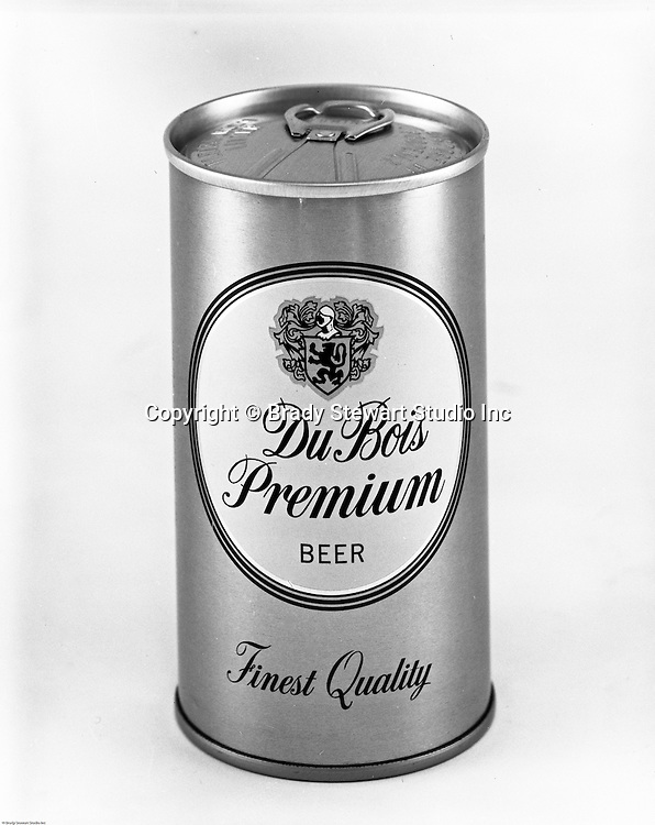 Client: DuBois Brewing<br /> Ad Agency: Thompson & Matelan Inc<br /> Contact: <br /> Product: DuBois Premium Beer<br /> Location: Brady Stewart Studio, 211 Empire Building in Pittsburgh   <br /> <br /> Studio photography of a Du Bois Premium Been Can. Frank Hahne founded the business in 1896 in Clearfield County PA (Northwest PA). The brewery promoted two main products; DuBois Export Beer and DuBois Premium Beer. Frank Hahne Jr. sold the brewery to Pittsburgh Brewing in 1967. Five years later, in May of 1972, the brewery was closed.