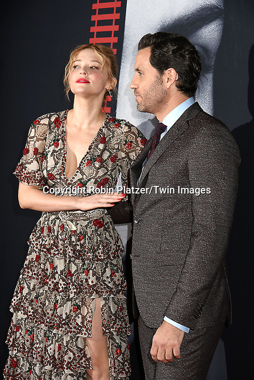 """actress Haley Bennett and actor Edgar Ramirez attends """"The Girl on the Train"""" New York Premiere on October 4, 2016 at Regal E-Walk Stadium 13 & RPX  in New York,New York,  USA.<br /> <br /> photo by Robin Platzer/Twin Images<br />  <br /> phone number 212-935-0770"""