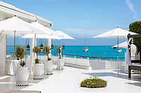 """BNPS.co.uk (01202 558833)<br /> Pic: CapVillas/BNPS<br /> <br /> Director of Cap Villas, Emilia Jedamska, said the sale was: """"A rare chance to own a piece of Riviera history. <br />  <br /> A glamorous villa that has hosted a string of celebrities including Winston Churchill, Pablo Picasso, the Duke of Windsor and Edith Piaf is on the market for £9m (10.5m euros).<br /> <br /> The exquisite Villa La Garoupe Beach sits on a natural sand beach and has its own private beach on one of the French Riviera's most exclusive spots.<br /> <br /> It was once a renowned beach club and the list of names connected to the property are endless. French singer Edith Piaf hosted her engagement party to Theo Sarapo there and it was also visited by former US President Harry Truman, writer Ernest Hemingway, Bond actor Sean Connery and movie star Marlene Dietrich.<br /> <br /> The property in Cap d'Antibes has four bedrooms suitable for six to eight people, three bathrooms and a living area overlooking the sea."""