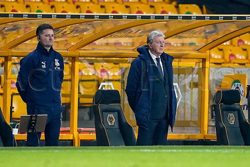 30th October 2020; Molineux Stadium, Wolverhampton, West Midlands, England; English Premier League Football, Wolverhampton Wanderers versus Crystal Palace; Roy Hodgson manager of Crystal Palace