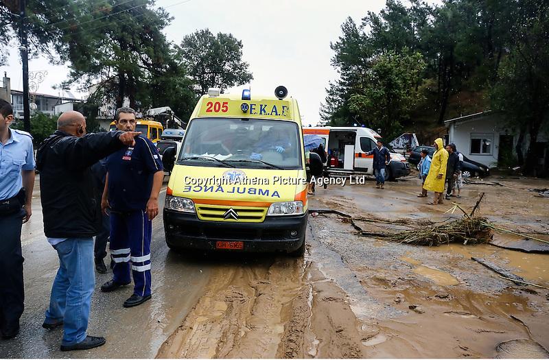 Emergency vehicles in Agia Triada