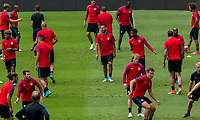 Mexico City, Mexico - Saturday June 10, 2017: Clint Dempsey and the USMNT during training prior to their 2018 FIFA World Cup Qualifying Final Round match between the men's national teams of the United States (USA) and Mexico (MEX) at Azteca Stadium.