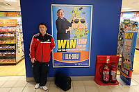 Wednesday 28 August 2013<br /> Pictured: Gethin Rees at Cardiff Airport.<br /> Re: Swansea City FC players and staff en route for their UEFA Europa League, play off round, 2nd leg, against Petrolul Ploiesti in Romania.