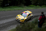 14th September 2012 - Devils Bridge - Mid Wales : WRC Wales Rally GB SS6 Myherin stage : Tom Cave and Craig Parry (GB) in their Proton Satria Neo S2000.